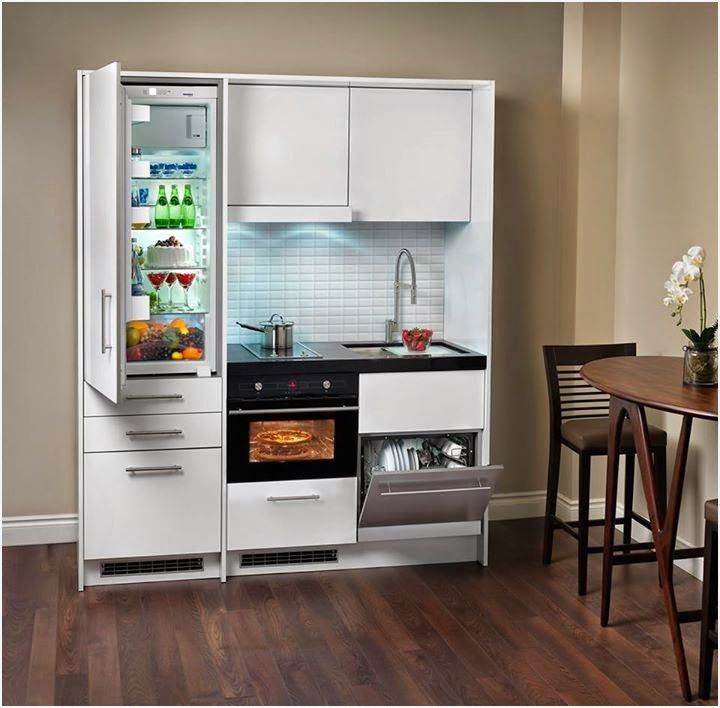 Kitchen Units For Small Spaces Smartly Small Apartment Kitchen Decor Small Apartment Kitchen Kitchen Decor Apartment