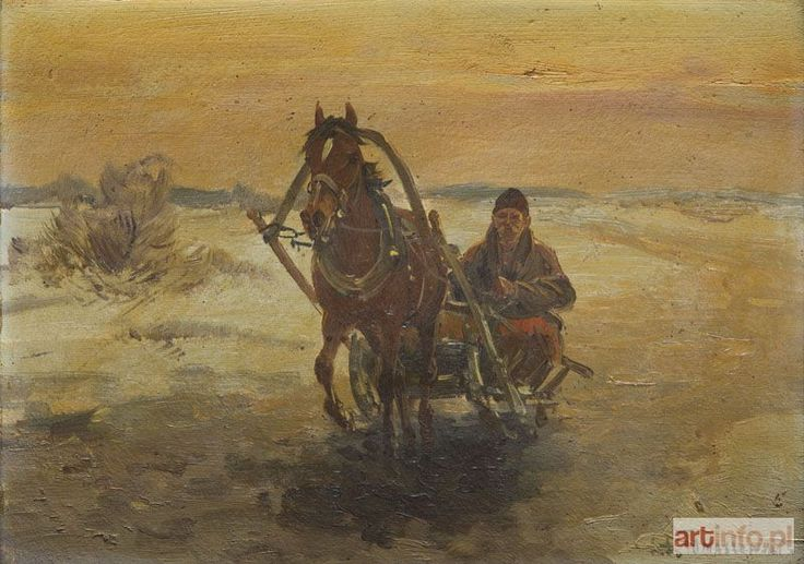 Stanisław TOMASZEWSKI-MIEDZA ● Sanie w zimowym pejzażu ●