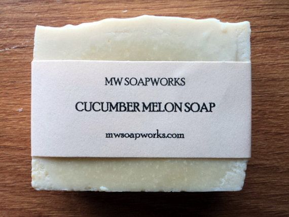 Cucumber Melon Soap with Real Organic Cucumber // Cold Process Soap // Luxury Bath Soap