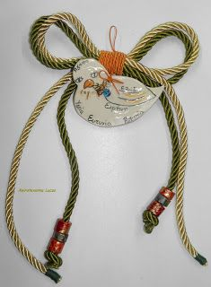 Το περιστέρι των ευχών - χειροποίητο γούρι από πηλό XeiroTexnima