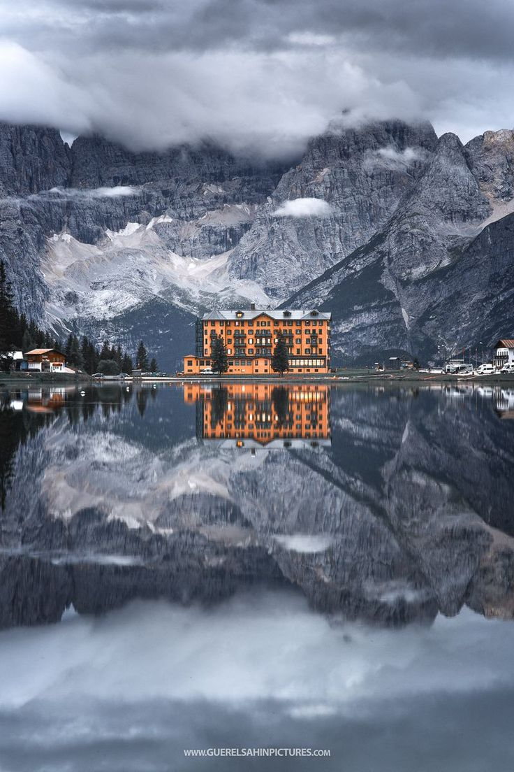 """The Mirror - misurina lake in the afternoon, Sexten Dolomites, Italy if you like it, follow me on <a href=""""http://www.facebook.com/guerelsahinpictures"""">FACEBOOK</a> <a href=""""https://instagram.com/guerelsahinpictures/"""">INSTAGRAM</a>"""