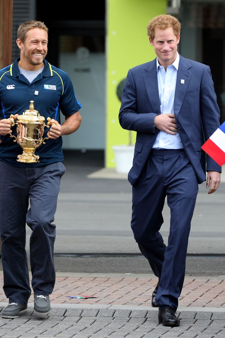 Prince harry at the launch of the rugby world cup trophy tour townandcountrymag