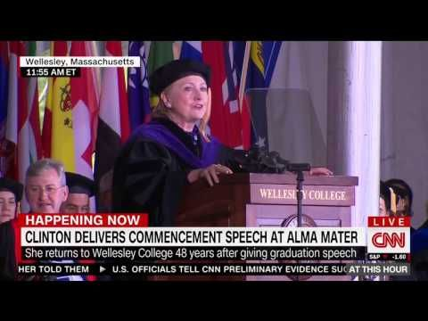VIDEO! HILLARY COUGHING FIT DURING GRADUATION SPEECH AT WELLESLEY COLLEGE, PREDICTING TRUMP WOULD BE IMPEACH « 70news