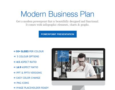 This Modern Business Plan Powerpoint is perfect for start up and business/product review