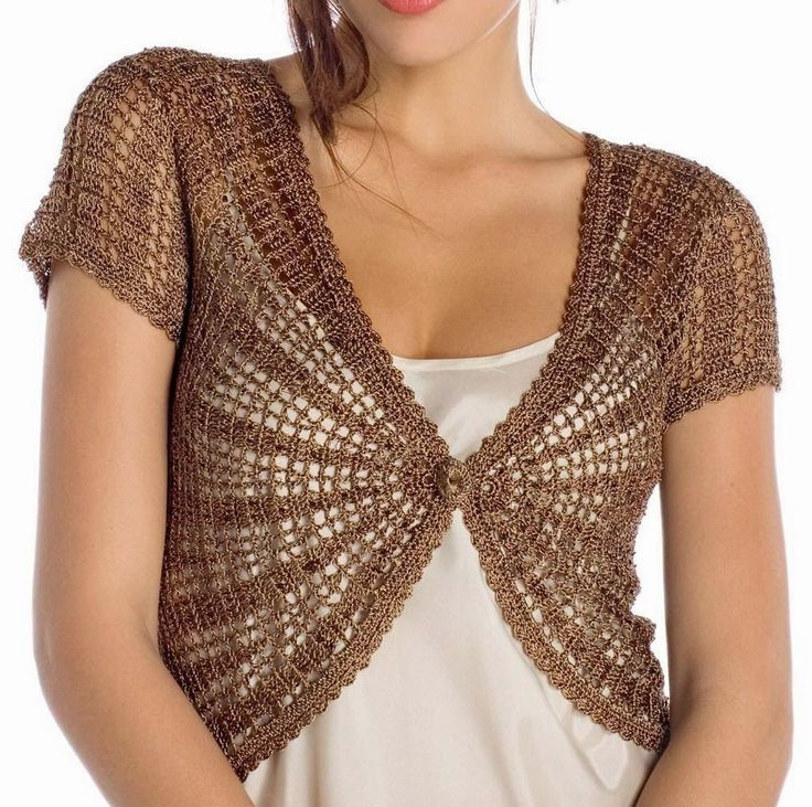 Crochet Sweater: Crochet Bolero Pattern - Elegance