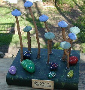 Bug Village is a fun idea for summer camp crafts and other nature crafts for kids this summer!