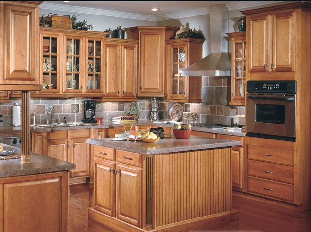 Kitchens birch cabinets newhairstylesformen kitchens for Birch wood kitchen cabinets