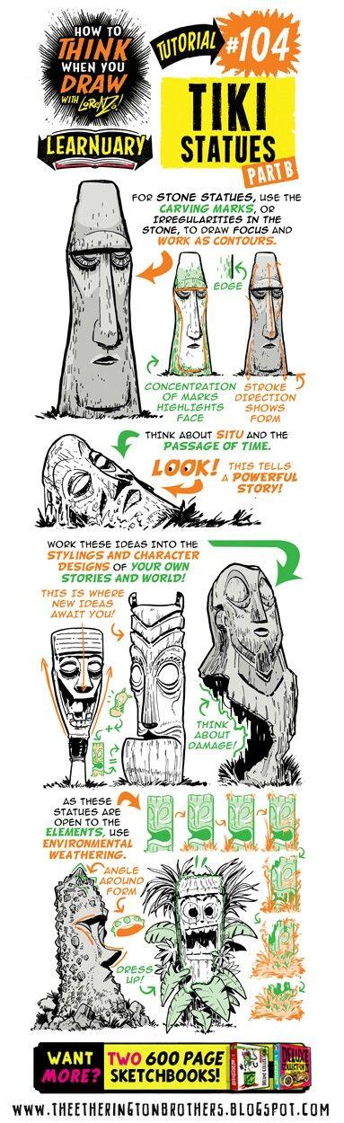 #104 Tiki Statues B