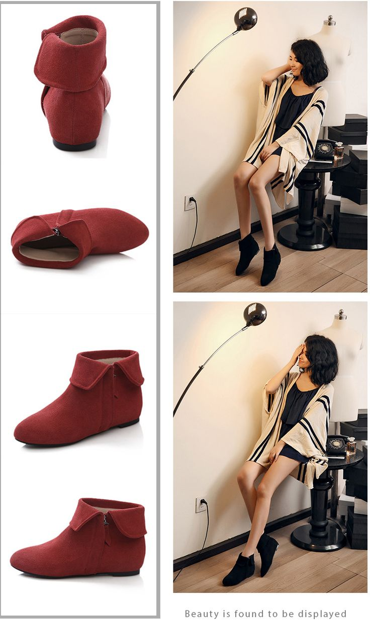 Women's Flat Pointed Toe Zipper Fashion Boots Ankle Boots