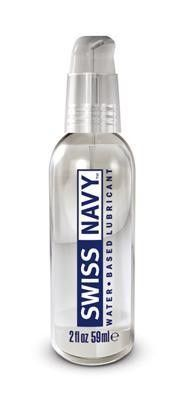 2 oz Water Based Lube Swiss Navy premium lubricants are setting the standard in today`s marketplace. The finest ingredients available are blended into an advanced formula for exceptional glide and slickness. Swiss Navy premium lubes come in a patented leak proof bottle with a convenient single-hand pump for easy, non-interruption applications. Swiss Navy is perfect for any intimate activity requiring extra lubrication and less friction.