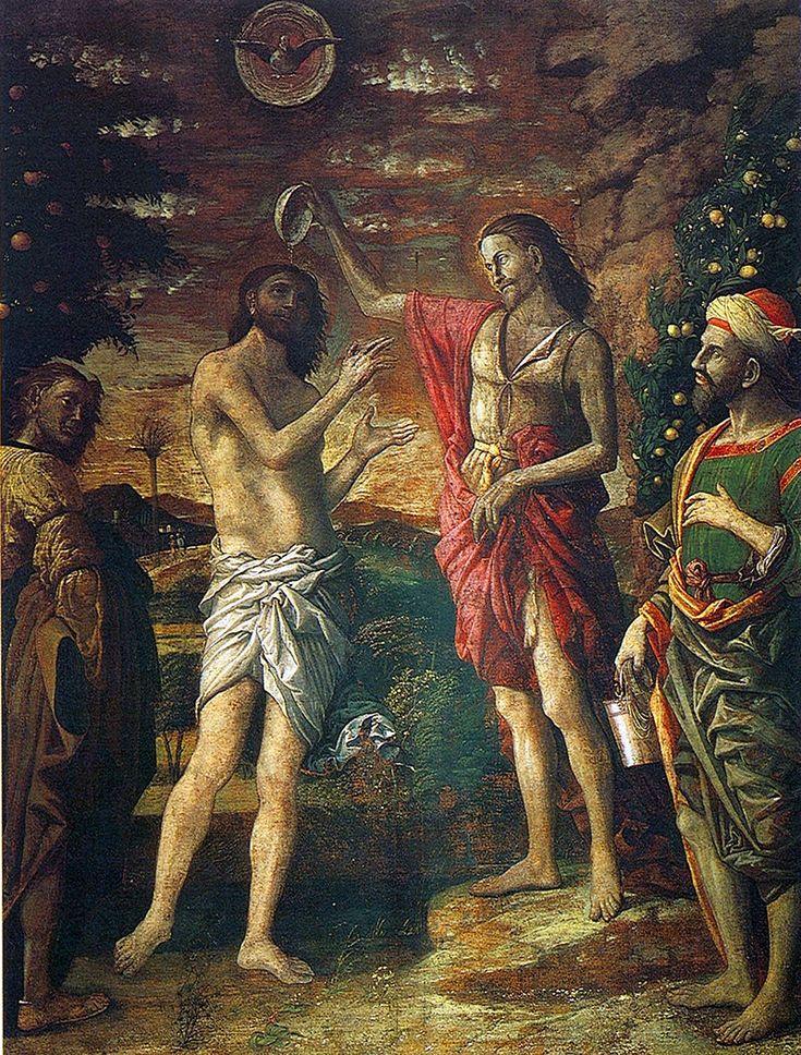 91. 1506 - Battesimo di Cristo - Mantova, Basilica di Sant'Andrea, Cappella del Mantegna