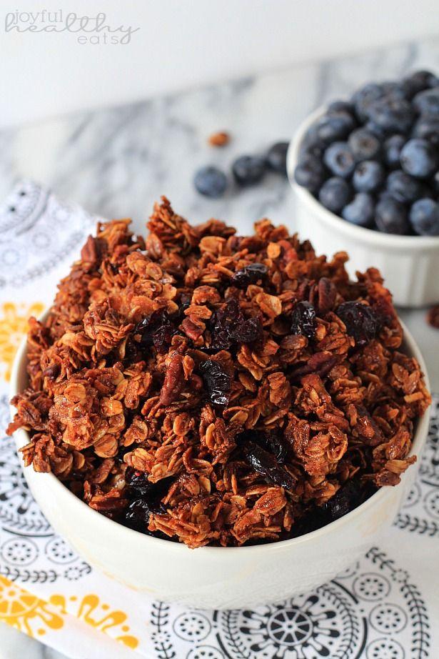 ... Pecan Granola #healthybreakfast #granola #blueberry #coconut #pecan