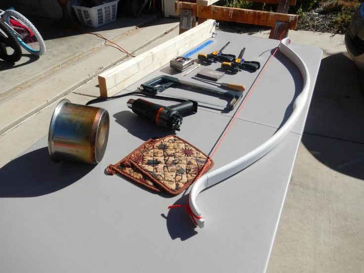 Flattened PVC Pipe Bow Build Along