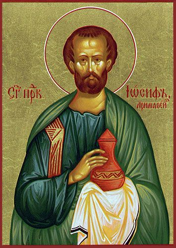 St. Joseph of Arimathea is a disciple of Jesus Christ who is mentioned in each account of the Passion narrative. After the Passion of the Lord, Joseph, a member of the Jewish council went to Pilate and asked for possession of the body of Jesus. After receiving this permission, Joseph had Jesus laid in a nearby tomb.March 29 th.sa