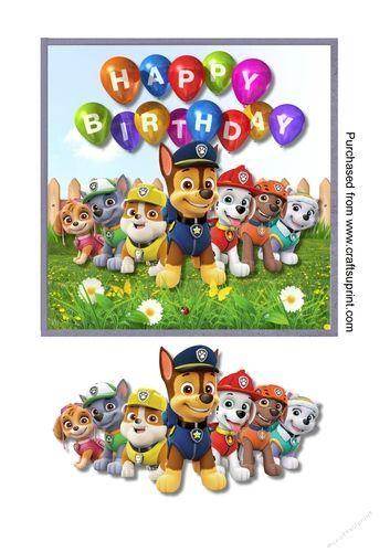 paw patrol  paw patrol birthday card paw patrol birthday