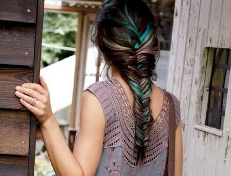 I was going to do this. Then i got my hair cut. Oh well... I can still be jealous:) : Hair Ideas, Fish Tail, Hairstyles, Hair Styles, Colors, Makeup, Fishtail Braids, Beauty, Hair Color
