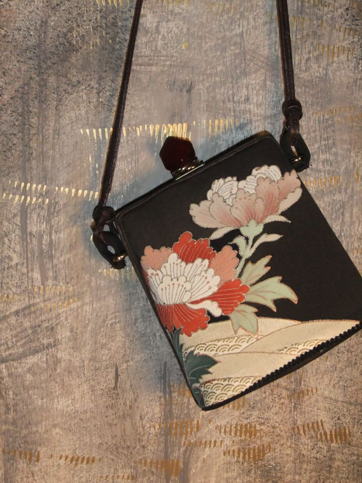 Repurposed Kimono Fabric Upcycled Vintage Purse by OneDegreeEast, $90.00