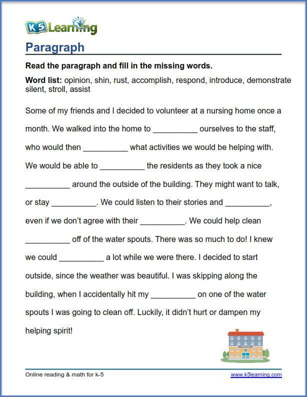 K5 Learning Grade 4 Vocabulary Worksheets Vocabulary Exercises
