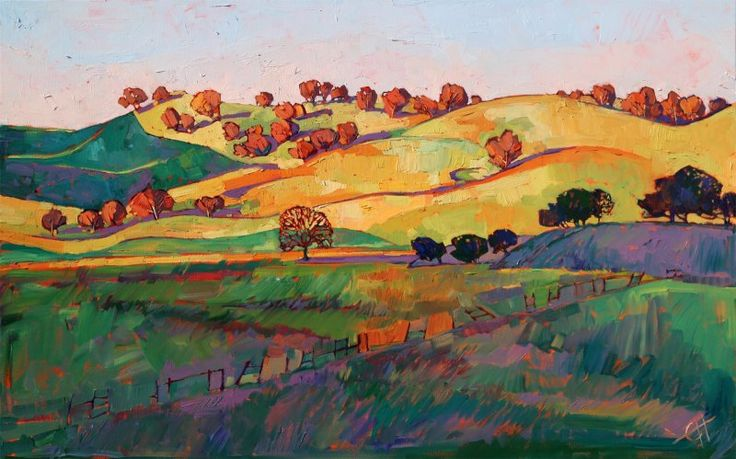 Central California impressionism painting by artist Erin Hanson