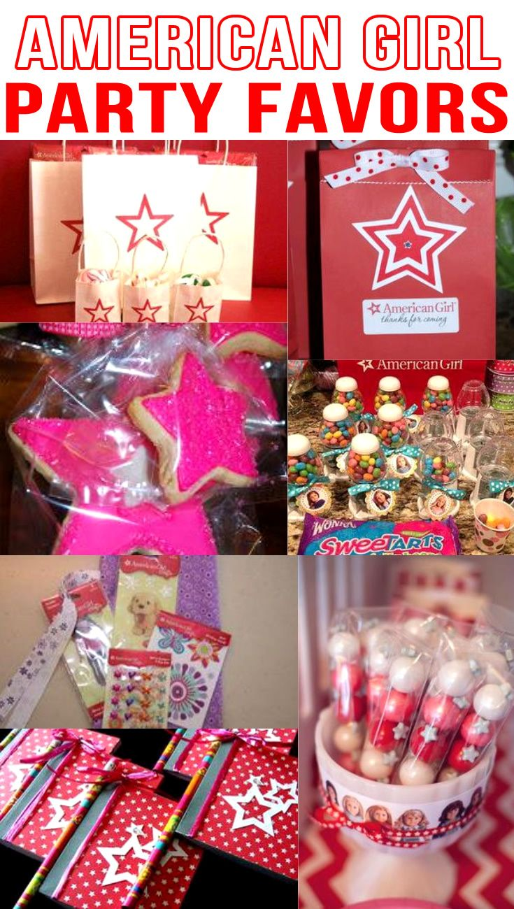 American Girl Doll Party Favor Ideas American Girl