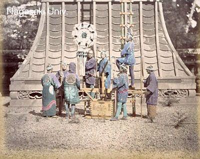 明治時代に撮影された町火消たち/ 明治時代に撮影された町火消たち