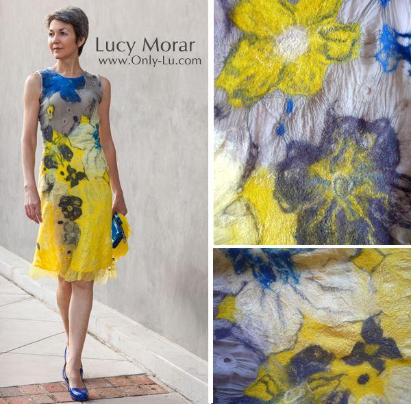 Yellow Dress / Nuno felt dress... Lucy Morar...http://www.only-lu.com
