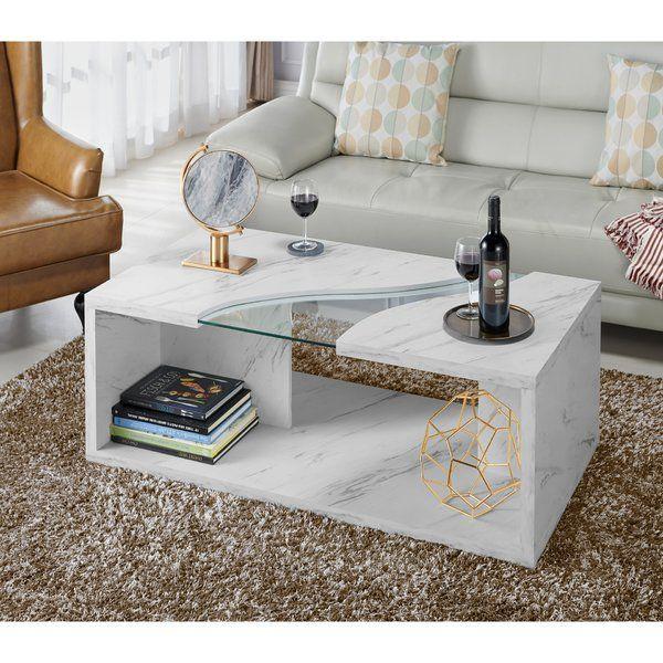 Hahn Floor Shelf Coffee Table With Storage Coffee Table Coffee