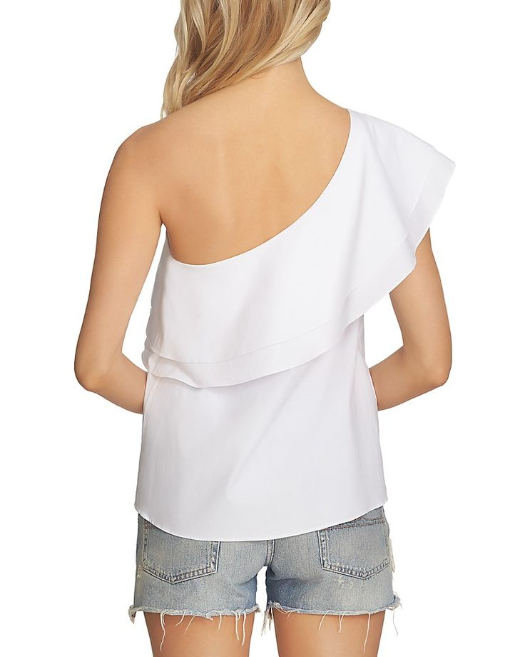 ON SALE 1 STATE ONE SHOULDER RUFFLE TOP SALE PRICE $37.92http://fave.co/2v5h6Ef