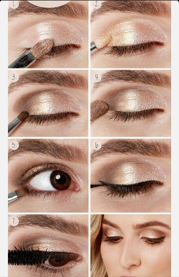 Beautiful eyemakeup for brown eyes