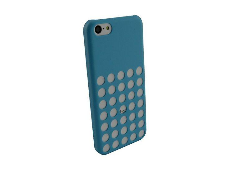 Hardcover iPhone 5C Hoesje Gaten Blauw