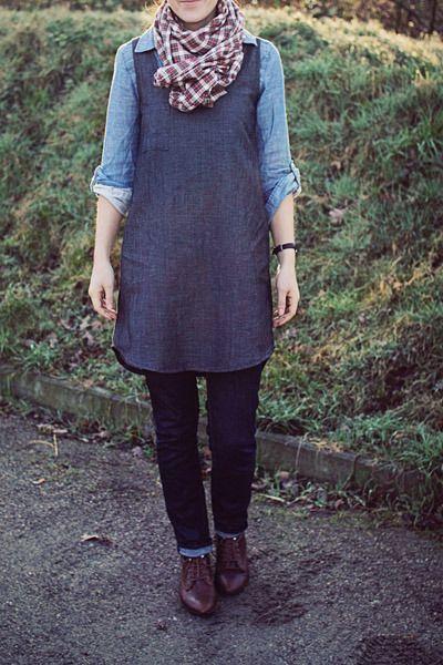 a great way to wear the Wiksten tank dress