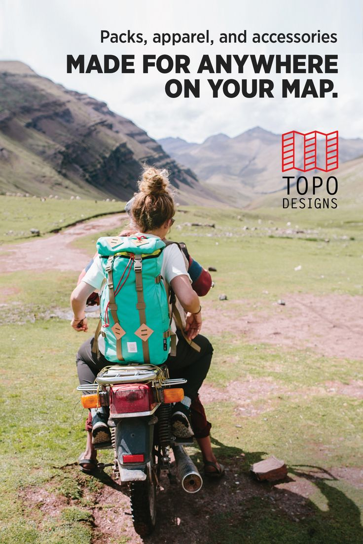 Classic. Mountain. Modern. Packs, apparel and accessories made for anywhere on your map with a lifetime guarantee.