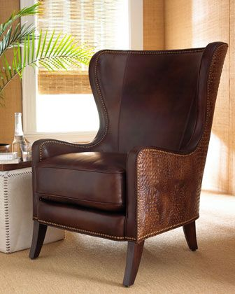 """Dooley"" Wing Chair by Massoud at Horchow."