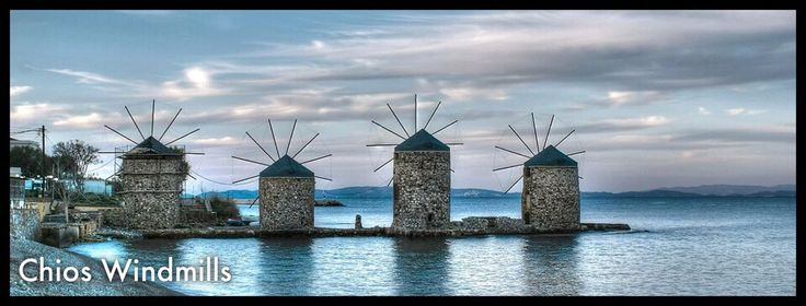 Chios windmills, Greece