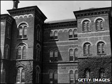 """The Broadmoor criminal lunatic asylum was opened in 1863 with 95 female patients. A block for male patients followed a year later. The asylum was intended for the """"safe custody and treatment"""" of the criminally insane. The new Broadmoor site covered 290 acres on the edge of the Berkshire moors and was designed by Major General Joshua Jebb, a military engineer. The Broadmoor site initially included 57 staff cottages and a school."""