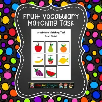 Fruit Vocabulary Matching Task