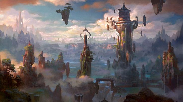 images of fantasy cities | Fantasy City Wallpaper/Background 1920 x 1080 - Id: 309171 - Wallpaper ...