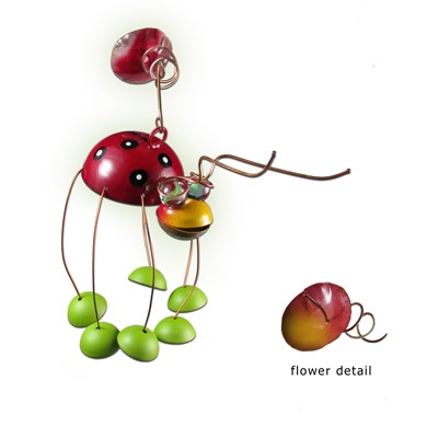 This series of garden ornaments by Juana is completely handmade in the ...  metal-garden-art.com