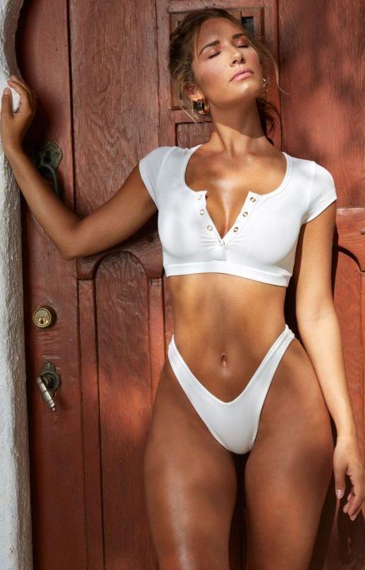 e958e832148 #Sierra Skye High Rise Bikini, Crop Top Bikini, Bikini Bottoms, Bikini Set