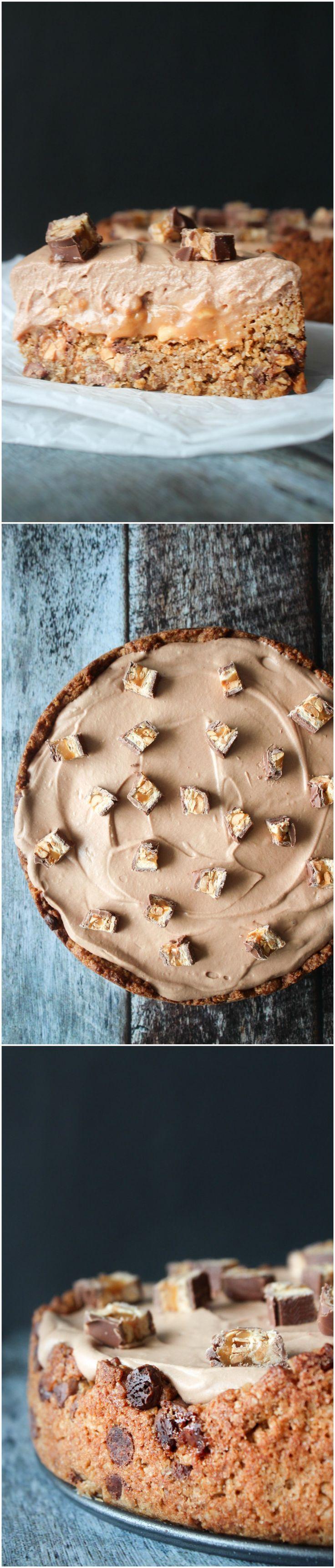 Snickers Pie - Snickers Cake - Peanut Cake - Chocolate Pie - Caramel Pie - Dessert -Homemade Dessert