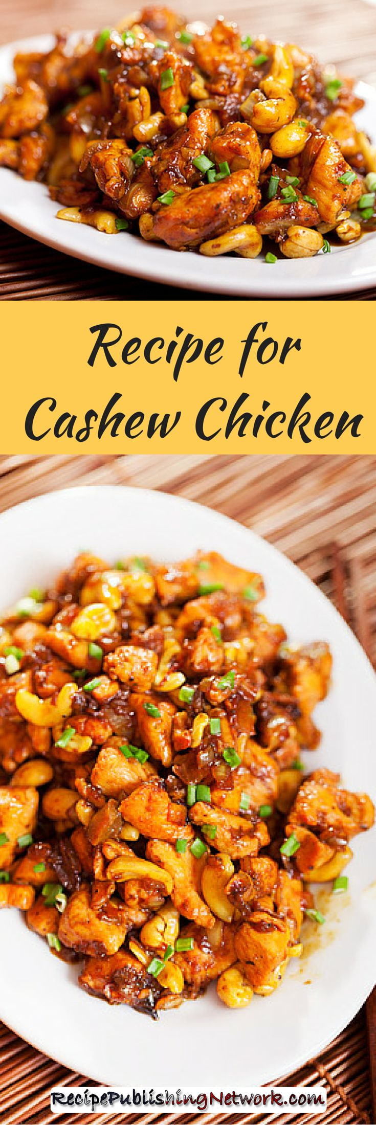 This cashew chicken recipe is so good you will think you are in a Chinese restaurant. Make this chicken recipe with cashew nuts for a true oriental feel and flavor for next dinner just add some white rice and you will have a nice filling meal that is all so good tasting.