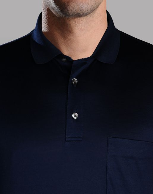 brioni.com | POLO WITH CONTRASTING COLLAR | T-Shirts & Polos | Clothing