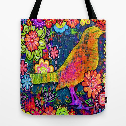 'SAFE HAVEN' Mixed Media Collage Pop Art Tote Bag by Joanna Grant Art | Society6