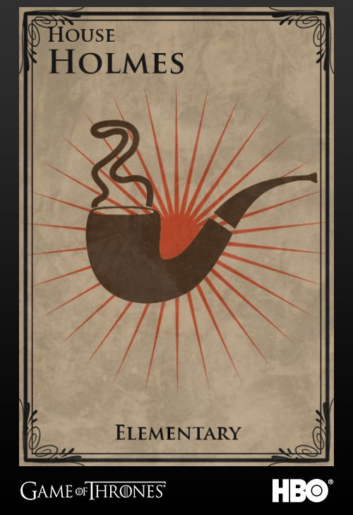 Game of Thrones style literary House Sigils.