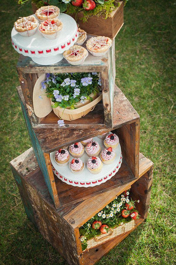 decoração casamento rústico caixas de madeira