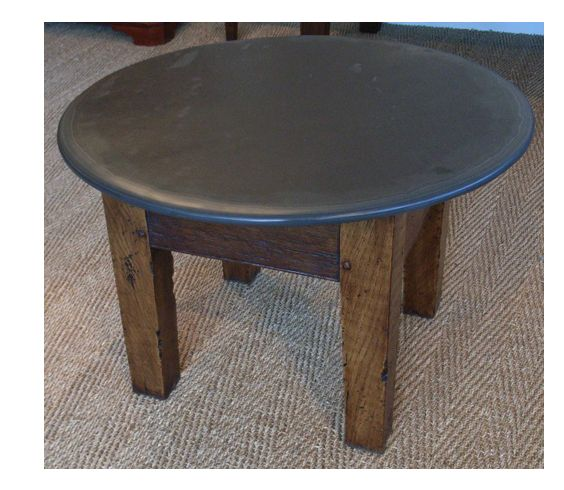 Small Round Coffee Table, Our Skilled Craftsmen Can Make It To Your Design www.slatetoptables.com
