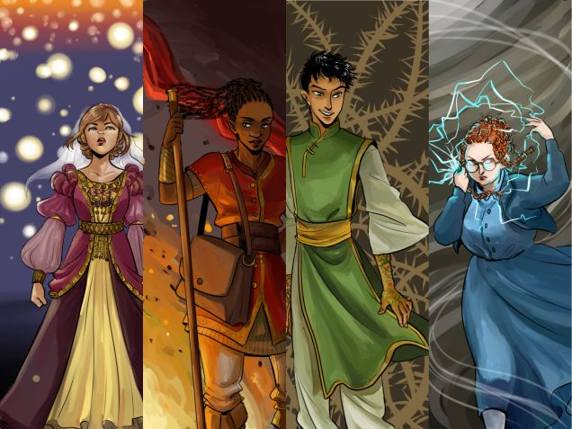 "Awesome art from the Circle of Magic universe, from ""Why Tamora Pierce Should Be Hollywood's Favorite Author Right Now"""