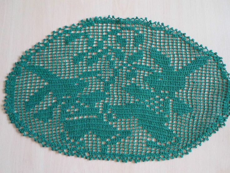 Handmade doilies (19inch x 12inch) (48cm x 29cm) by Ela Mazek