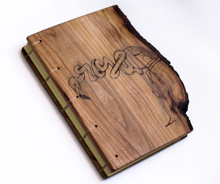 hand drawn and pyrographed