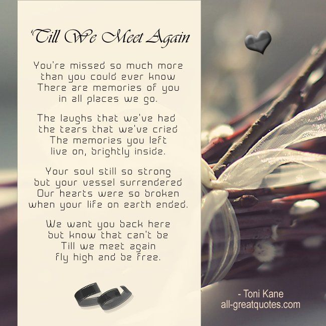 talpa till we meet again poem